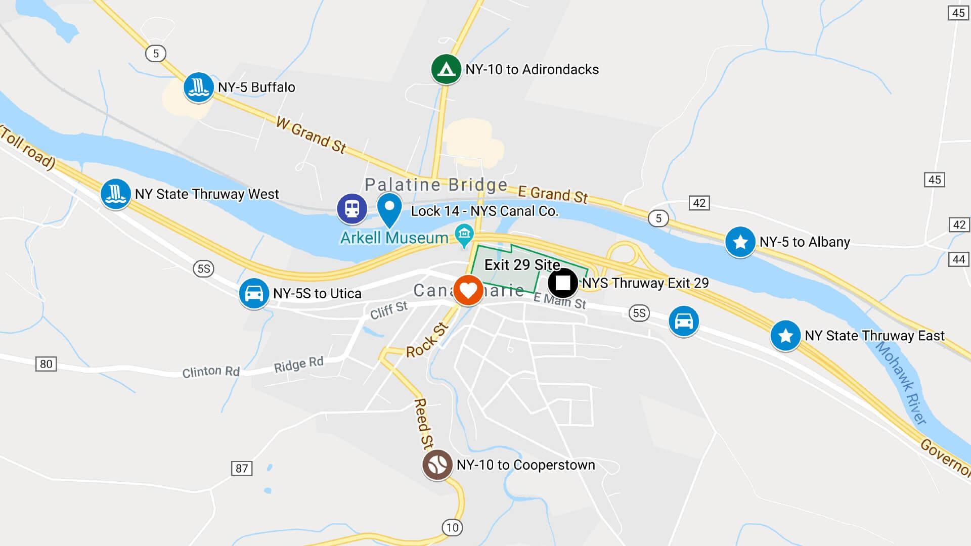 Canajoharie Major Transportation Routes